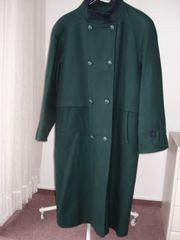 Damen-Lodenmantel dunkelgrün Gr 42 Zweireiher