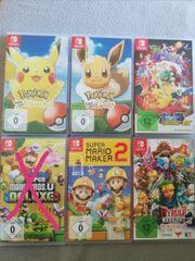 6 Nintendo Switch Spiele