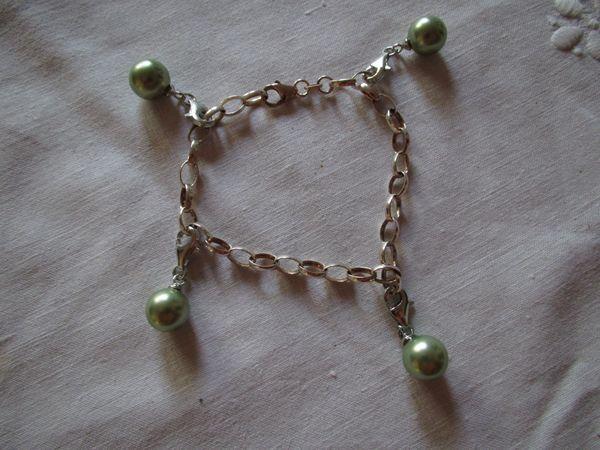 Armband 925er Silber mit 4