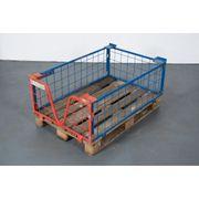 Gitter-Aufsatzrahmen 120x80x40 Palettenausatz Gitterbox Europalettenbox