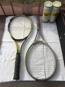 Tennis, Tischtennis, Squash, Badminton - Tennisschläger -Set 2 Schläger Tasche