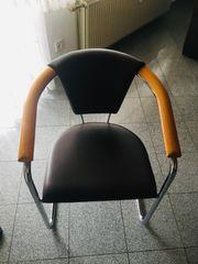 Esszimmerstühle Kunstleder braun