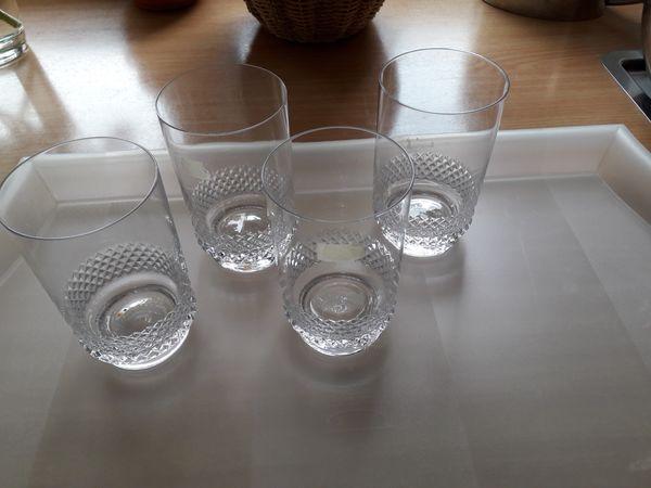 4x Wassergläser-Kristalloptik-Spiegelau
