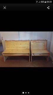 2 Holzbänke