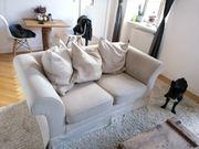 Zweisitzer Sofa in Cremefarben