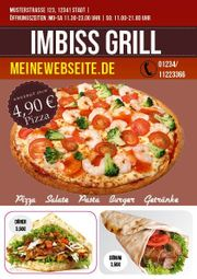 Pizza Flyer Flyer Lieferservice A5
