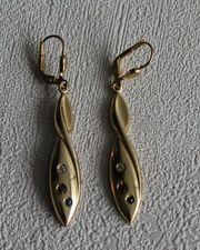 Ohrringe 375er Gelbgold Hänger mit