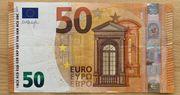 Euro-Schein Mit Historisch Seriennummer 01