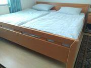 Doppelbett Buche massiv zu verkaufen