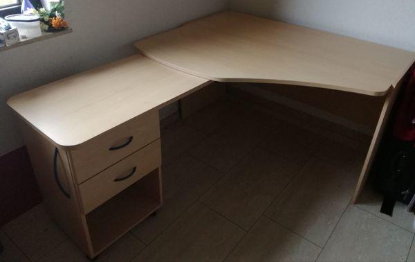 Schreibtisch Eck Schreibtisch Ahorn 100