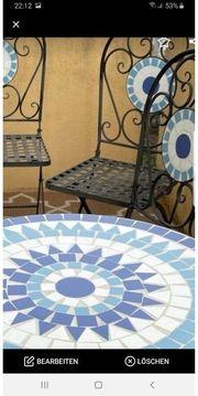 Balkon Marmor Tisch mit Stühlen