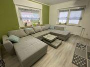 Sofa Couch grau - U-Form