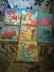 7 verschiedene Holzpuzzle Baby Kinder