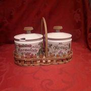 Honig-Marmelade Porzellan Set