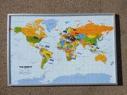 Pinnwand Weltkarte 90 x 60