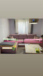 Wohnzimmer Couch rosa