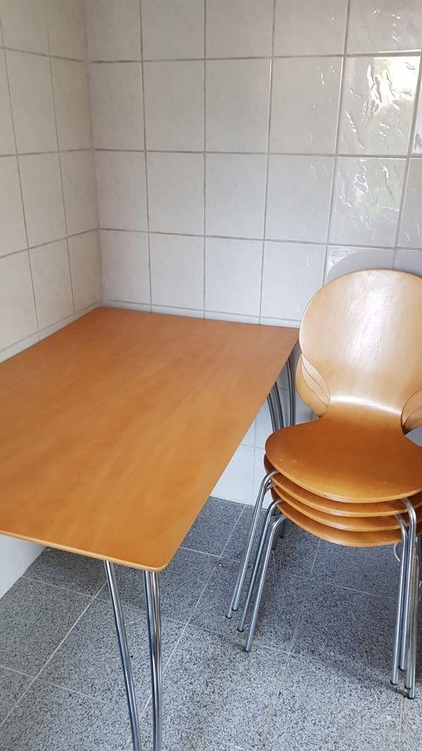 Set Tisch mit 6 Stühlen
