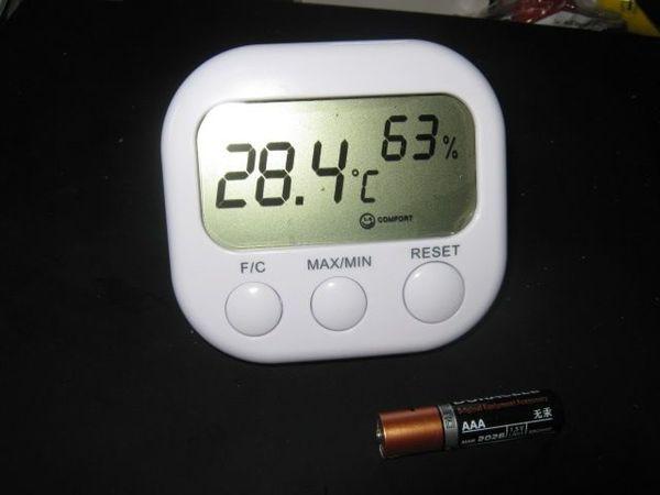 LCD Innen Außen Thermometer Hygrometer