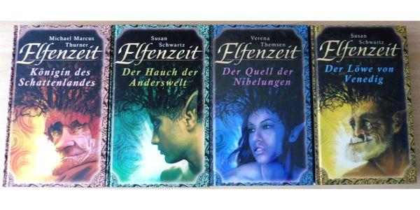 """4x Buch \"""" ELFENZEIT \"""" Band 1- 4 Abenteuer Fantasy Esotherik Sci-Fi Mythen 2x OVP"""