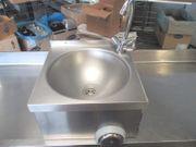Handwaschbecken Spüle Kniebedienung Edelstahl Waschtisch