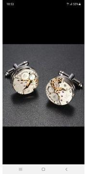 Manschettenknöpfe Uhrwerk