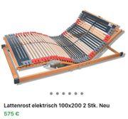 Lattenrost-Elektrisch 100x200 2 Stück Neu
