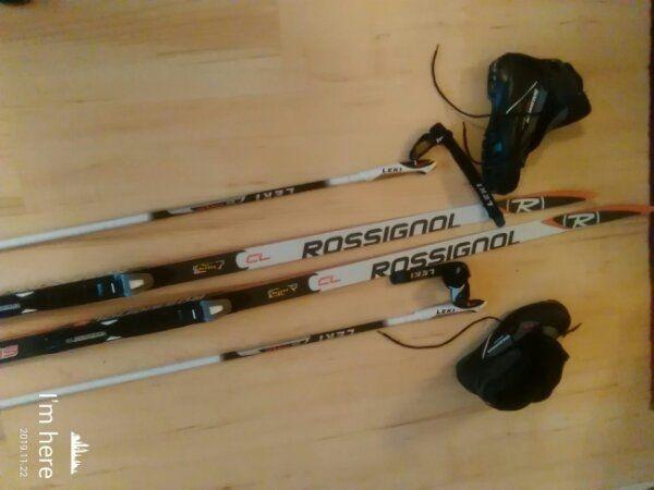 Langlauf-Ski-Set