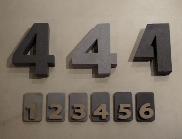 Hausnummer Beton