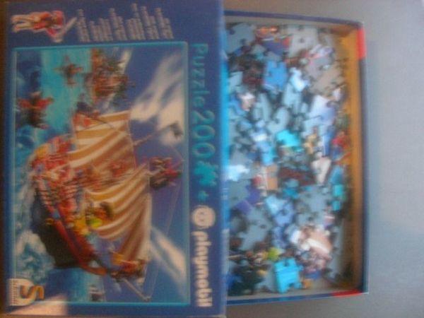 2 Playmobil Puzzle Ritterburg Piratenschiff