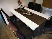 Schwingstühle Esszimmertisch 90 x 160