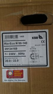 neue KSB Pumpe