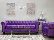 Sofa Set Samtstoff violett 4-Sitzer