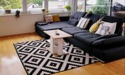 Ikea Teppich schwarz weiß