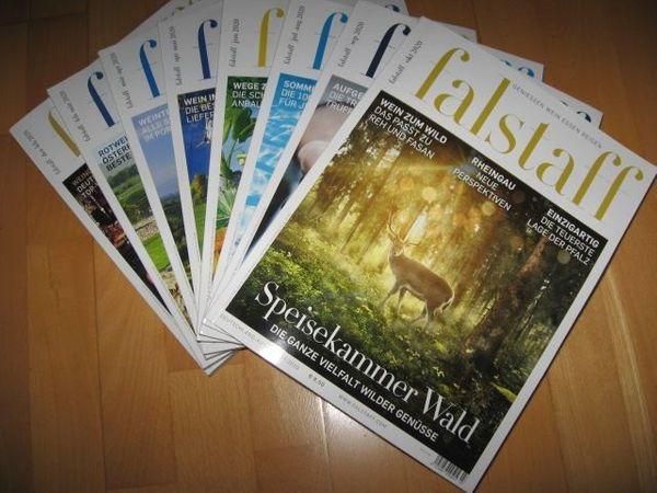 Magazin Falstaff Deutschland-Ausgabe, 6 Ausgaben 2019/2020 Geniessen, Wein, Essen, Reisen
