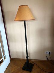Standleuchte Metall mit Stoff-Lampenschirm