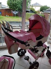 3 in 1 Kinderwagen rosa