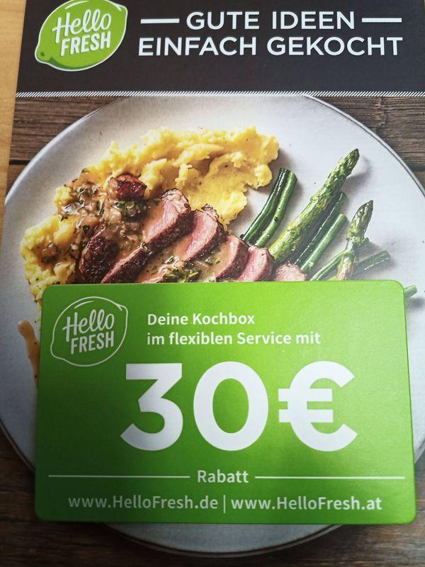 30 EUR Hellofresh Gutschein