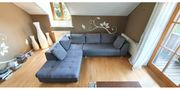 Sofa Couch Wohnlandschaft Leder Stoff