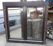 Holzfenster braun 2-fach verglast