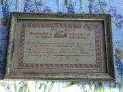 Confirmations-Urkunde 1860