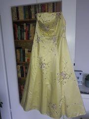 Kleid Abiball Abschlussball gelb Größe