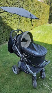 Kinderwagen Teutonia Cosmo Schwarz Leder