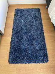 2 Teppiche blau gewebt 80x150
