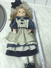 4 Sammlerpuppen Porzellan Kopf Puppen