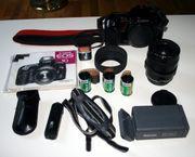 Canon EOS10 mit Objektiv und