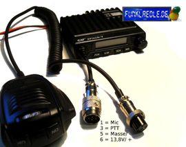 CB, Amateurfunk - 6 pol GDCH Umbau für