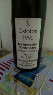 Biete eine Flasche von 1990
