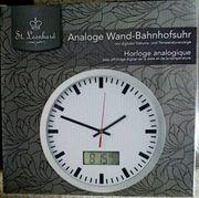 TIP Wanduhr Bahnhofs-Uhr-Optik auch mit
