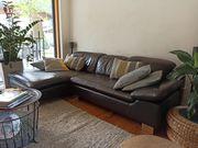 Hochwertige Echtleder Couch von W