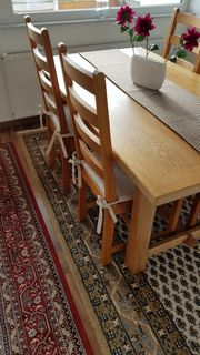 Esstisch mit 4 Stühlen - Eiche